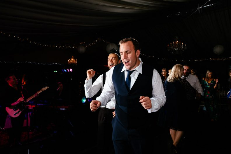 wedding guests dancing at tinakilly country house wedding