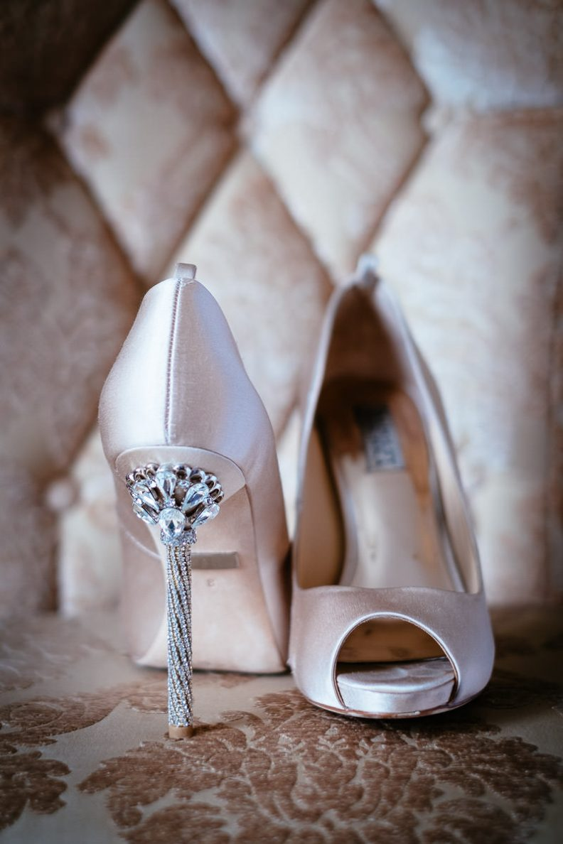 brides shoes at glenlo abbey hotel wedding