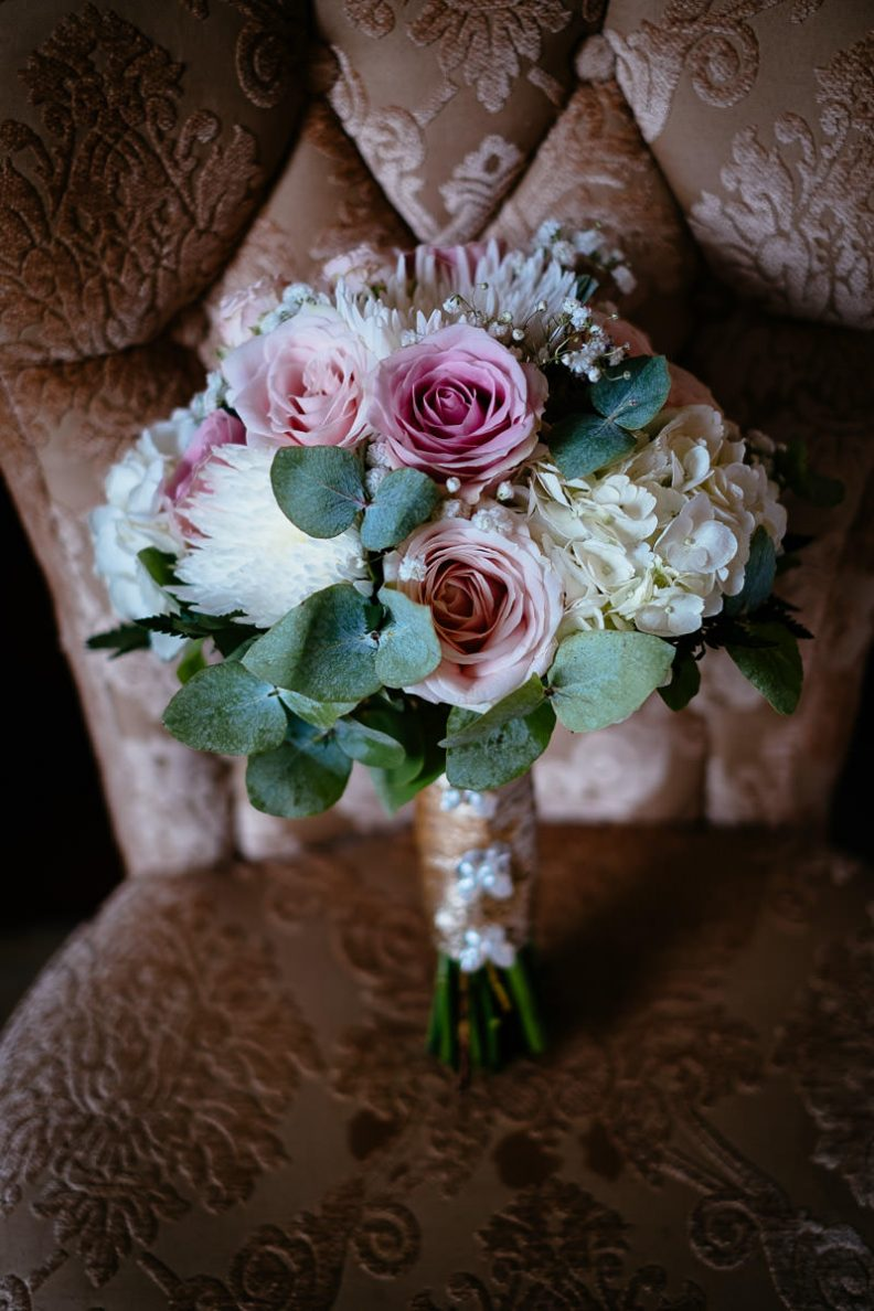 brides flowers at glenlo abbey hotel wedding