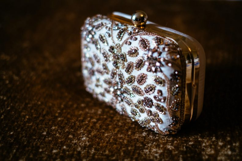 brides purse at glenlo abbey hotel wedding