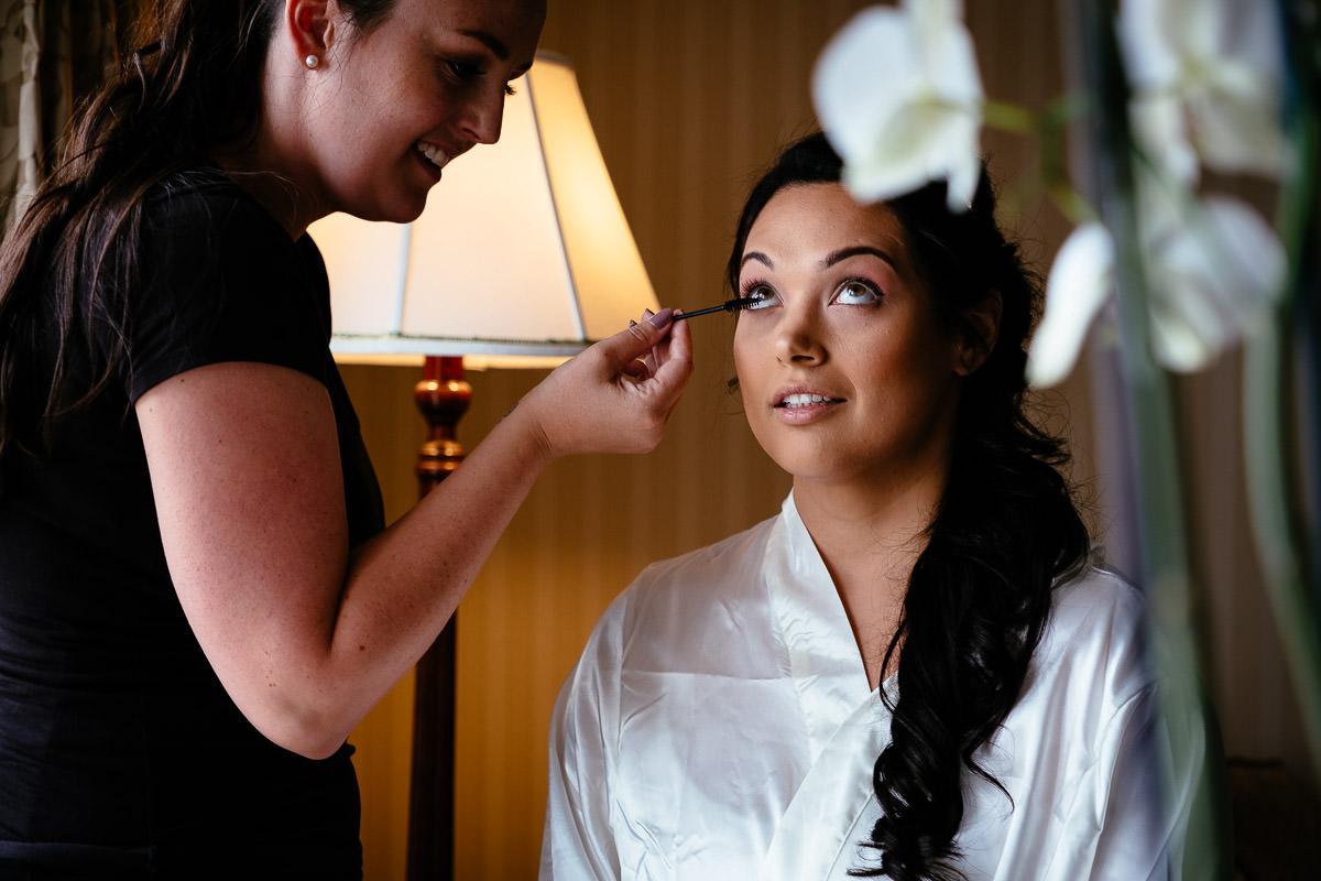 bridal preparations at glenlo abbey hotel wedding