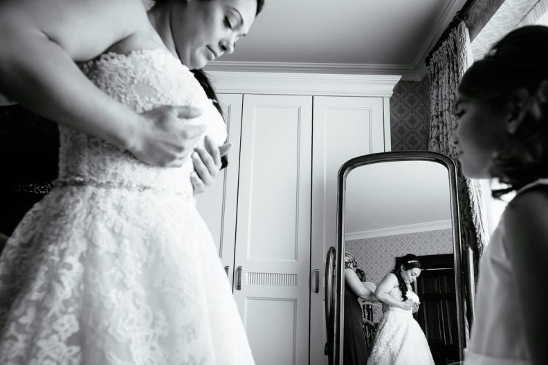 bridal preparations at glenlo abbey hotel wedding