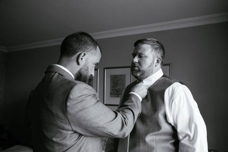 groom preparations at glenlo abbey hotel wedding