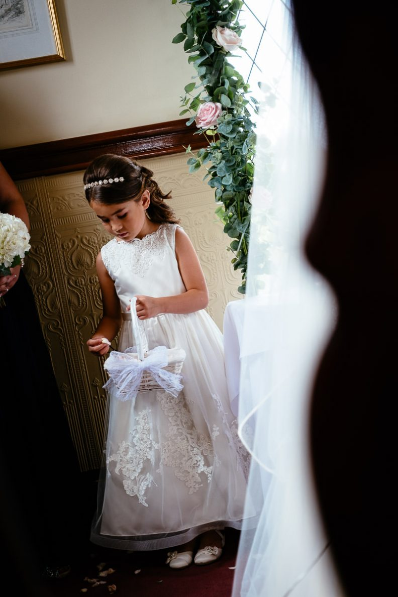 flower girl at glenlo abbey hotel wedding