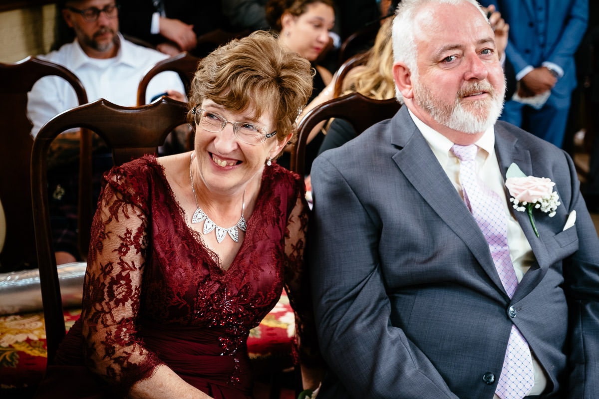 grooms mother laughing at glenlo abbey hotel
