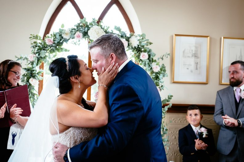 wedding ceremony at glenlo abbey hotel
