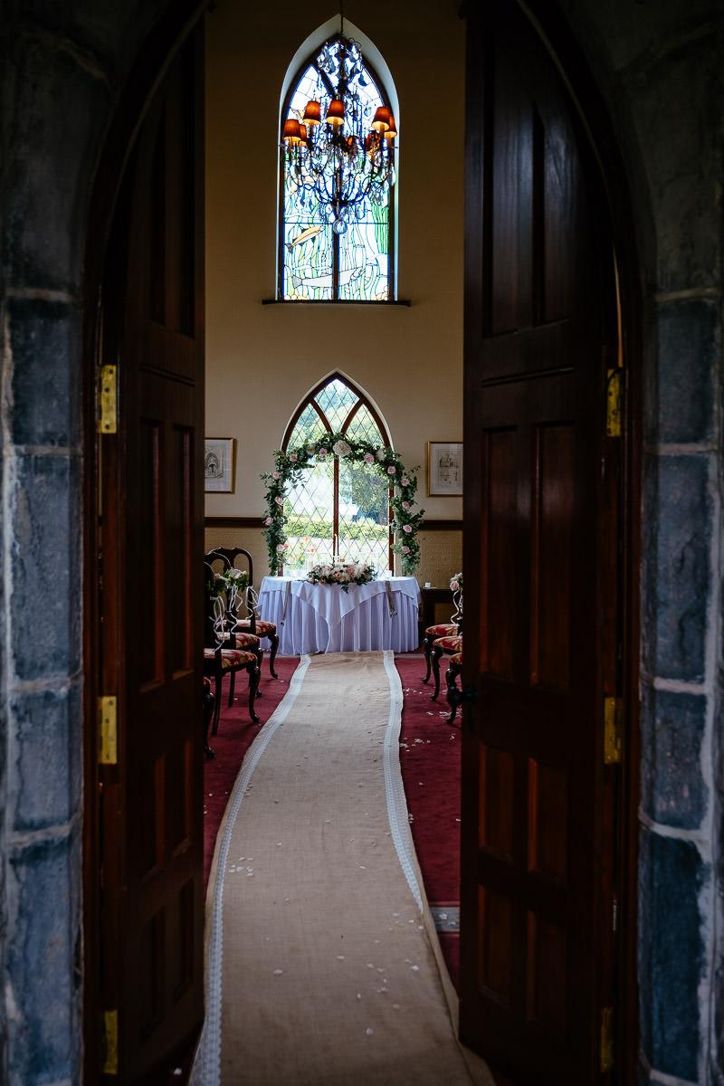 wedding ceremony at glenlo abbey hotel wedding