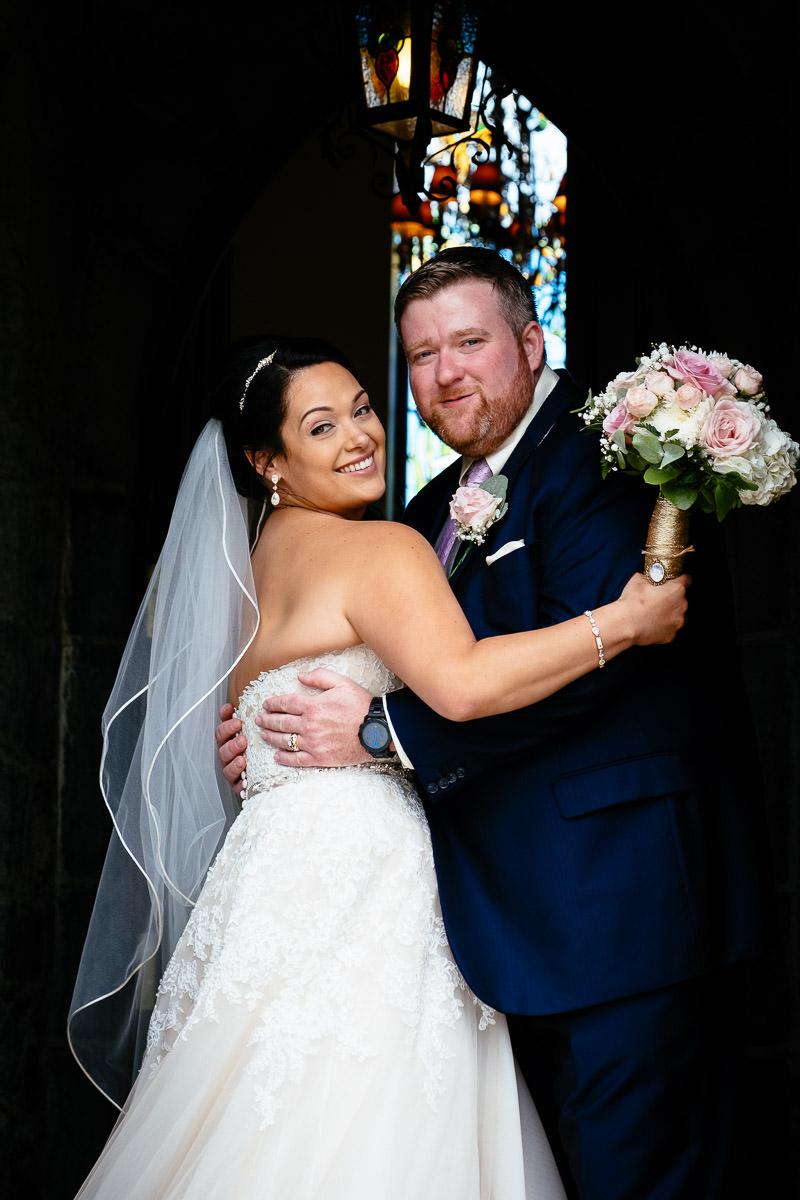 bride and groom at glenlo abbey hotel wedding