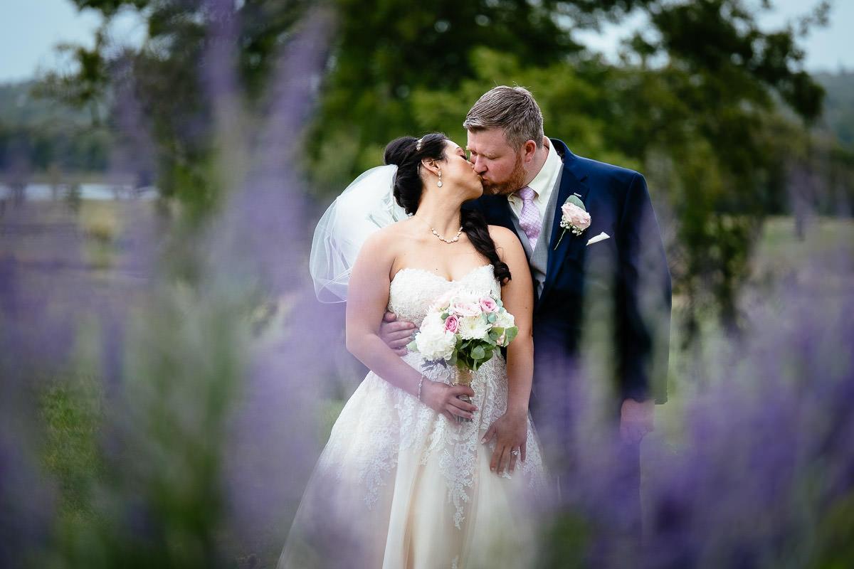 bride and groom kissing at glenlo abbey hotel wedding
