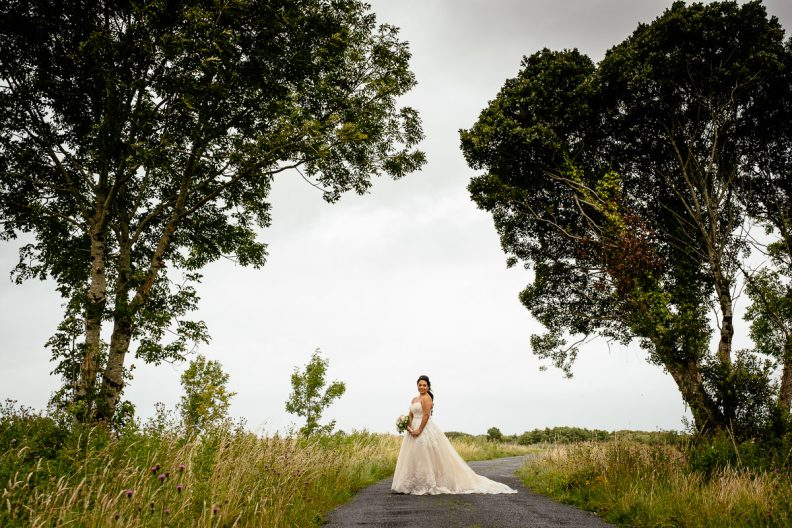 bride at glenlo abbey hotel wedding