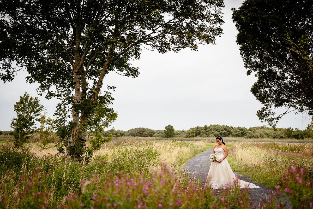 bride at glenlo abbey hotel wedding