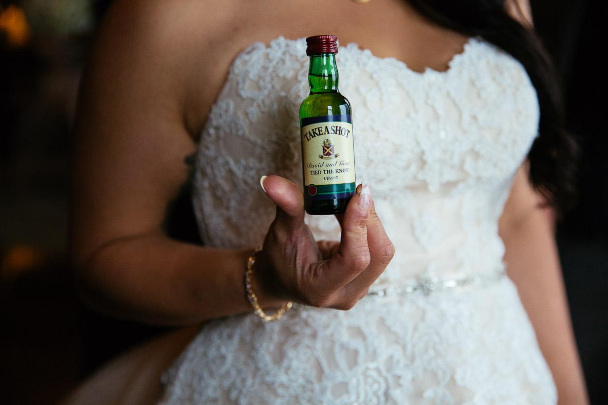 bottle of whiskey at glenlo abbey hotel wedding