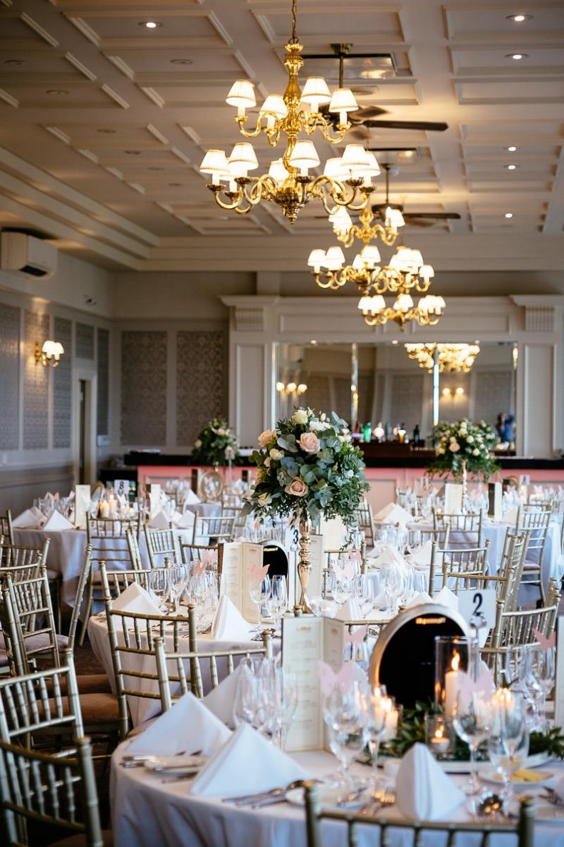 function room at glenlo abbey hotel wedding