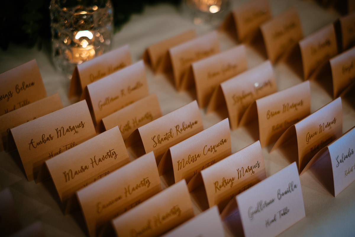 place names at glenlo abbey hotel wedding
