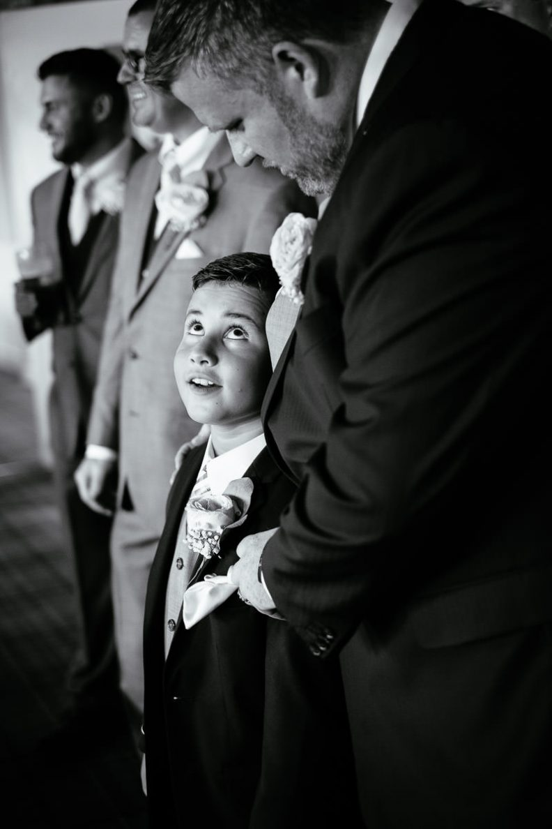 page boy at gleno abbey hotel wedding