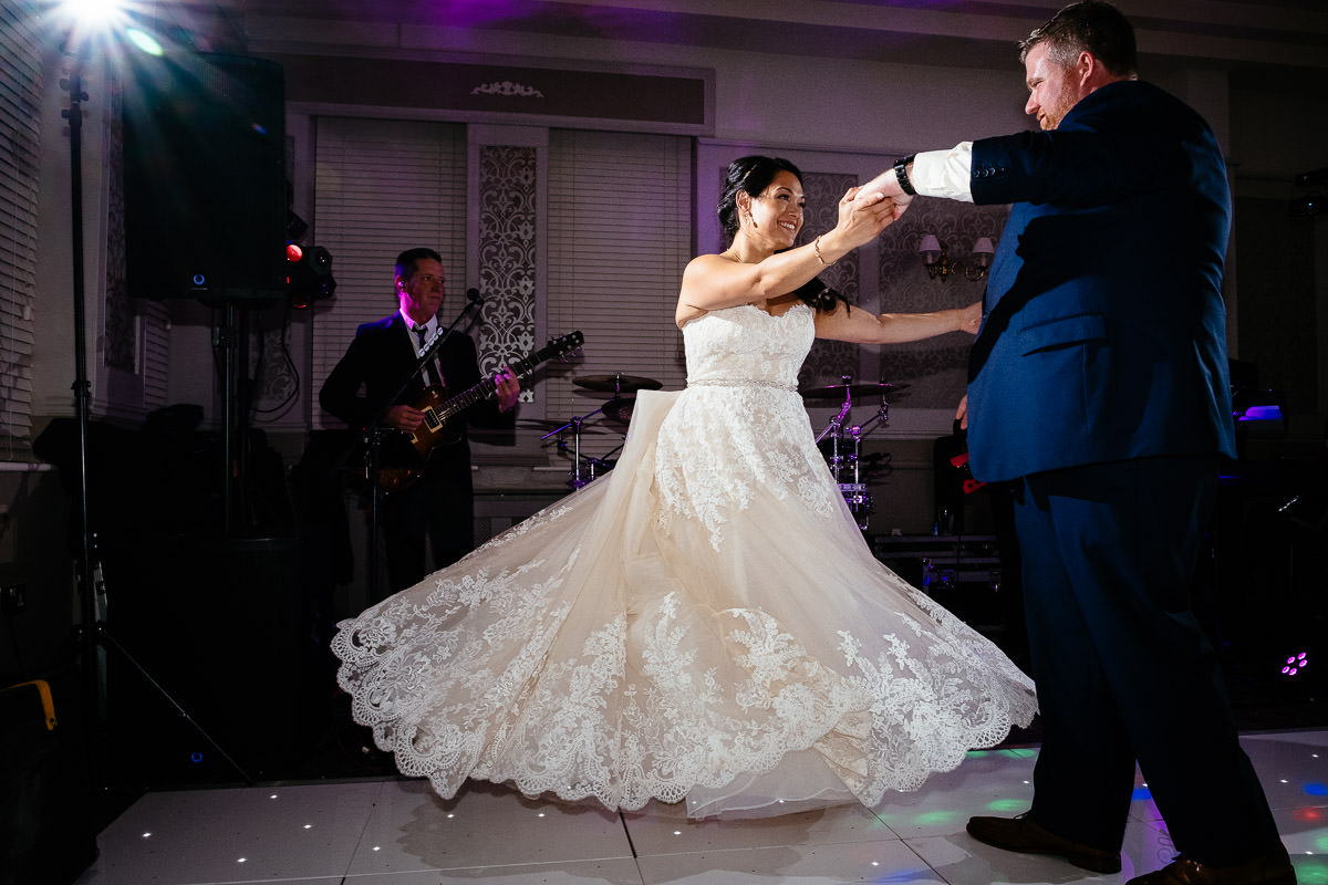 first dance at glenlo abbey hotel wedding
