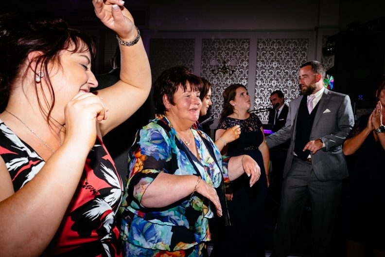 guests dancing at glenlo abbey hotel wedding