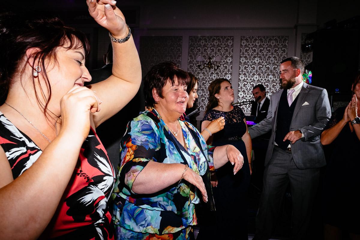guests dancing at glenlo abbey hotel wedding