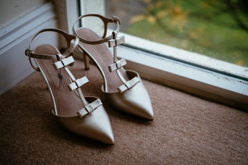 wedding shoes at balyna house at moyvalley hotel