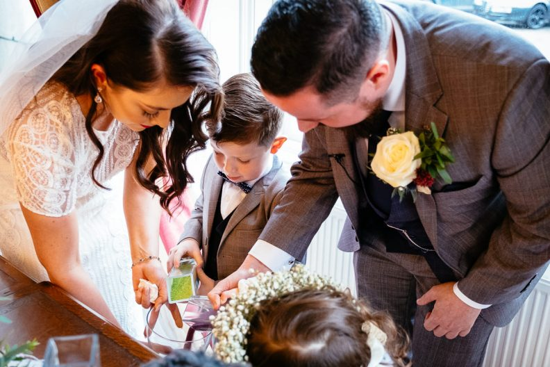 wedding ceremony at balyna house moyvalley hotel