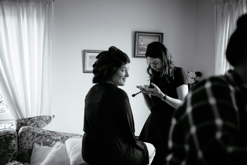 bride getting ready in cork