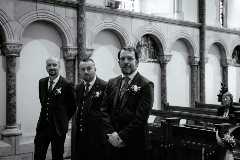 groom at honan chapel ucc wedding