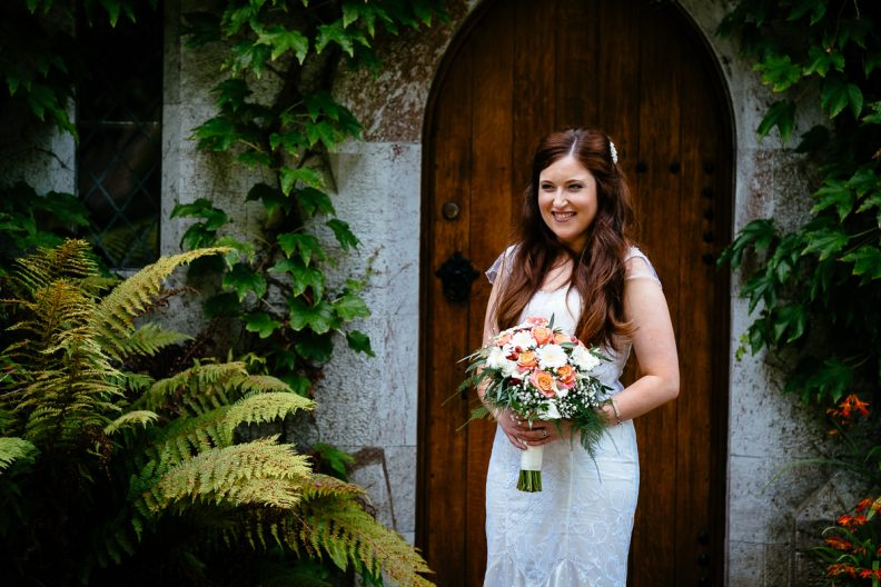 bride at university college cork wedding