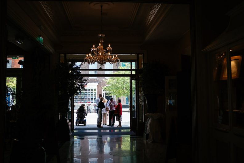 wedding guests at imperial hotel cork
