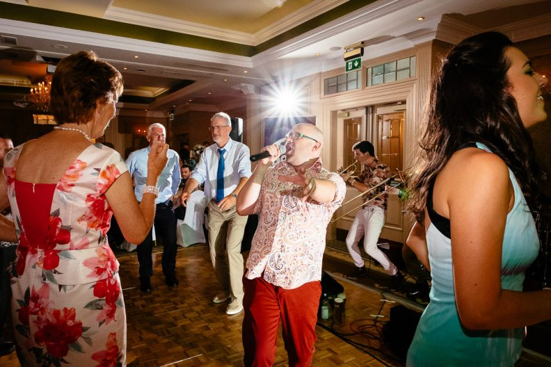 guests dancing at imperial hotel cork wedding