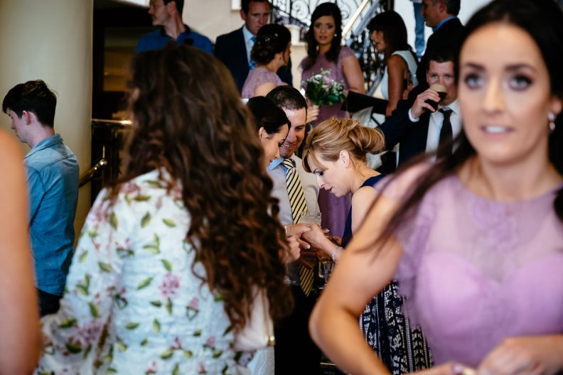wedding guests at the ashtown park hotel