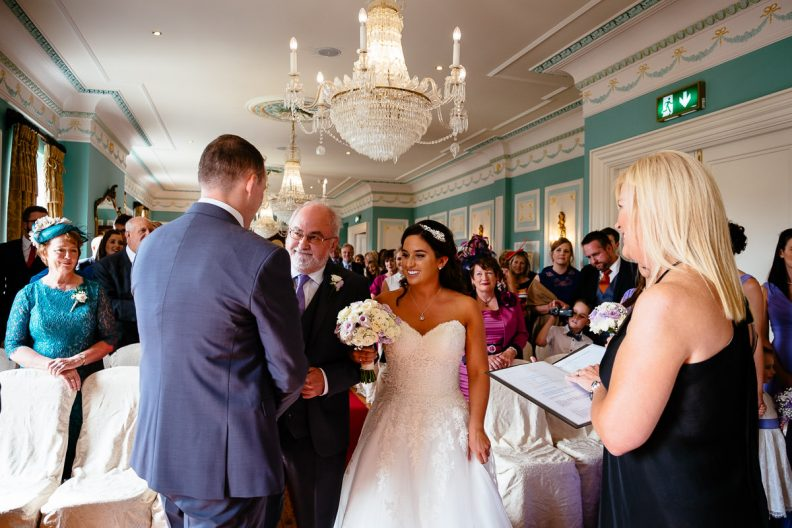 wedding ceremony at the killashee hotel naas