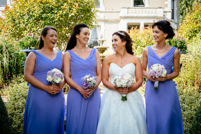 bride and bridesmaids photos at the killashee hotel naas