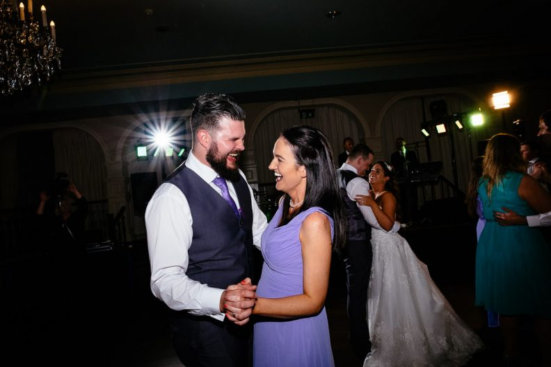 wedding guests dancing at the killashee hotel naas