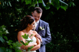 bride and groom embracing on their wedding day at the killashee hotel naas