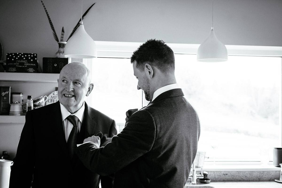 brides dad getting ready