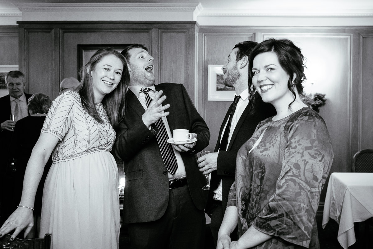 wedding guests at rathsallagh house wicklow