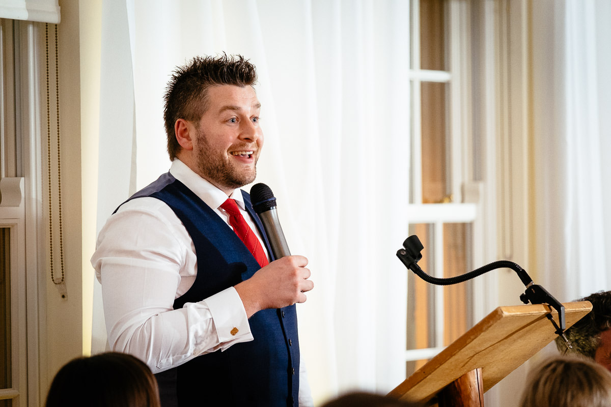 groom during speeches at rathsallagh house wicklow