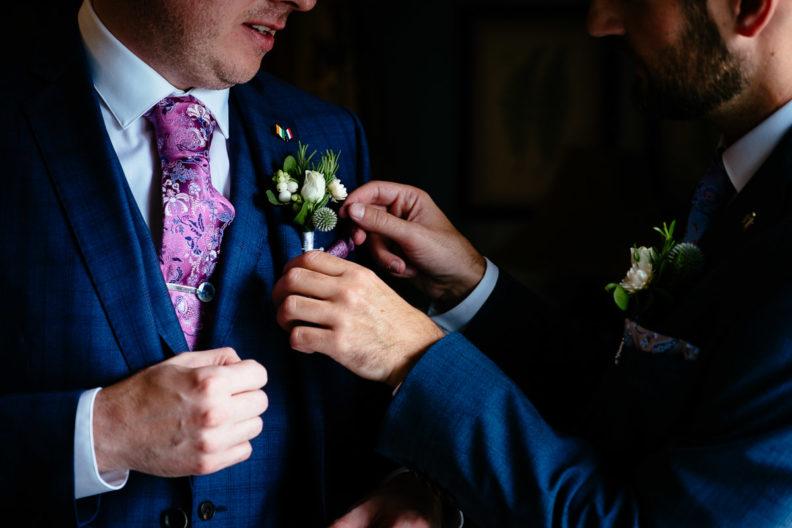 gay groom wedding preparations at the killashee house hotel