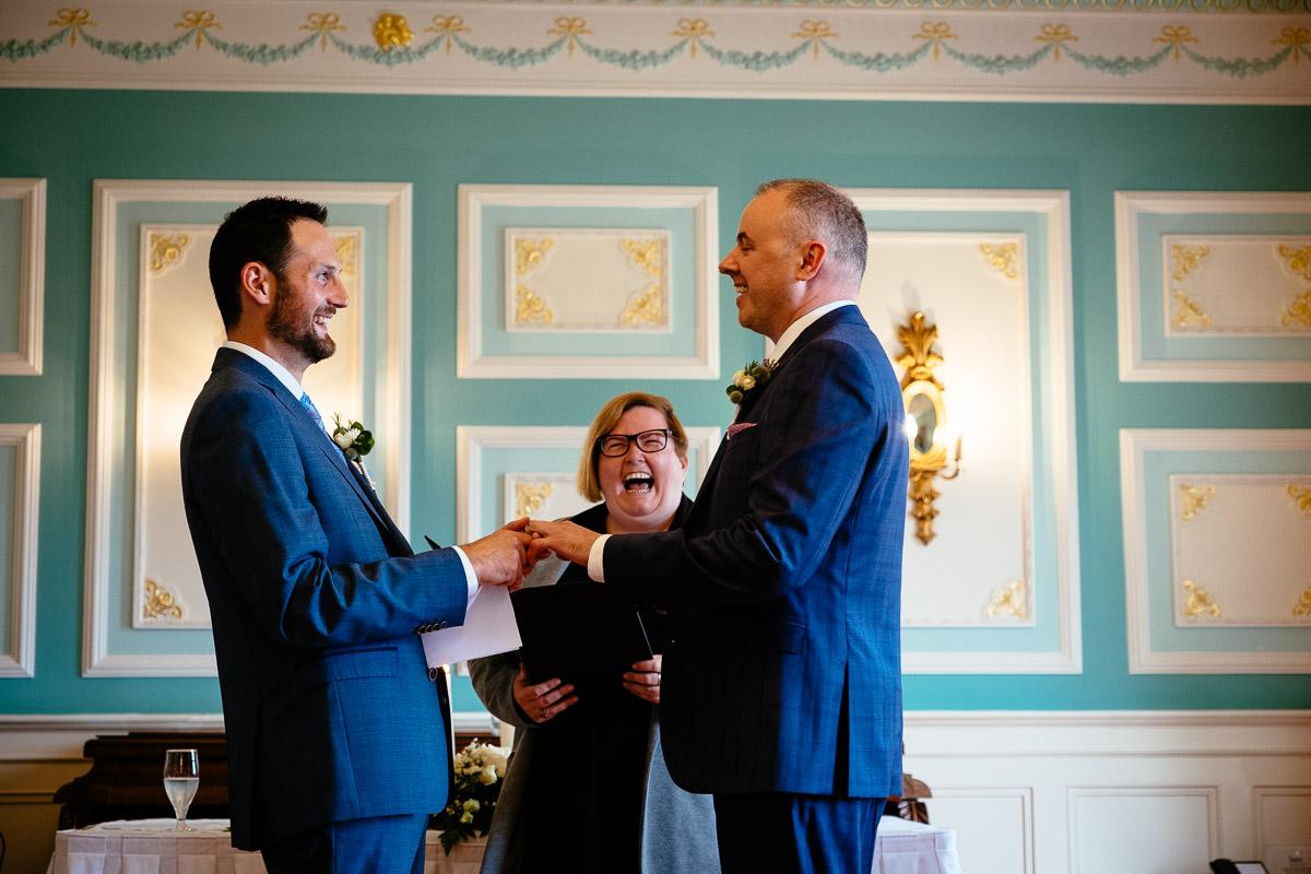 two grooms at their irish gay wedding