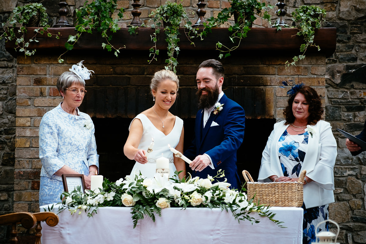 wedding ceremony at barberstown castle kildare