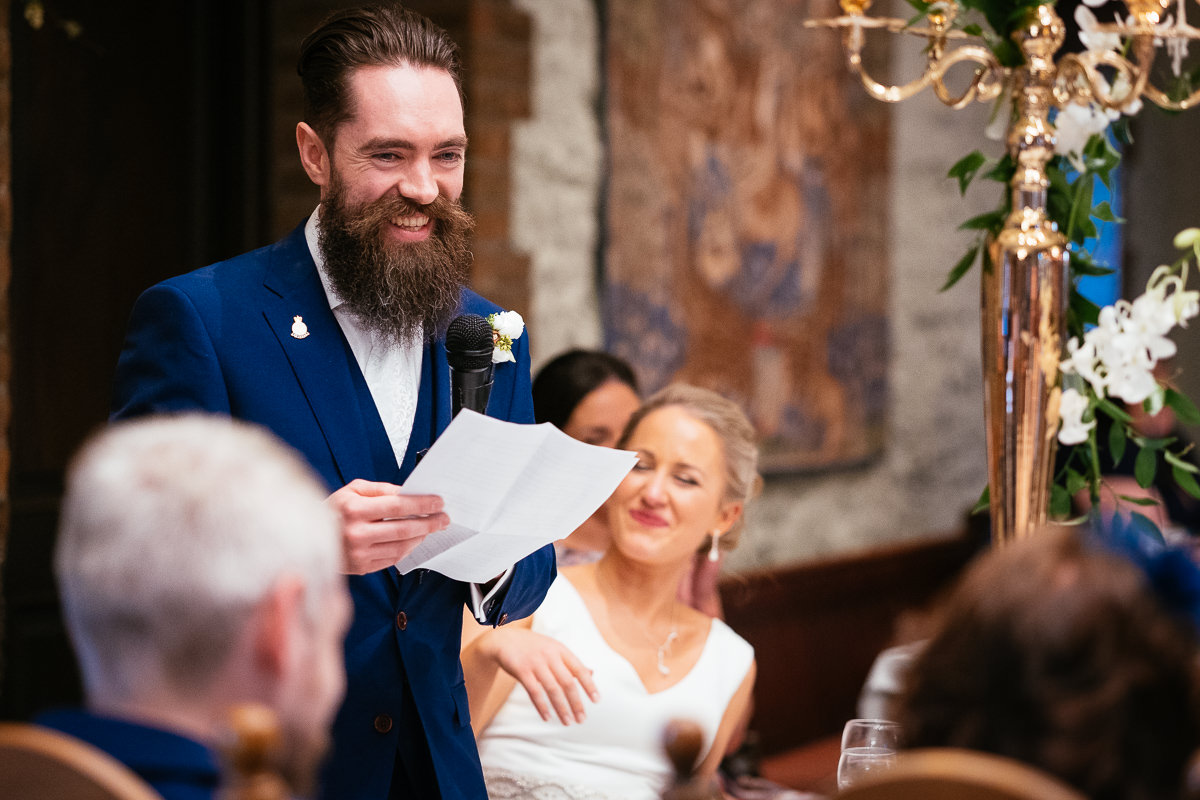 wedding speeches at barberstown castle kildare