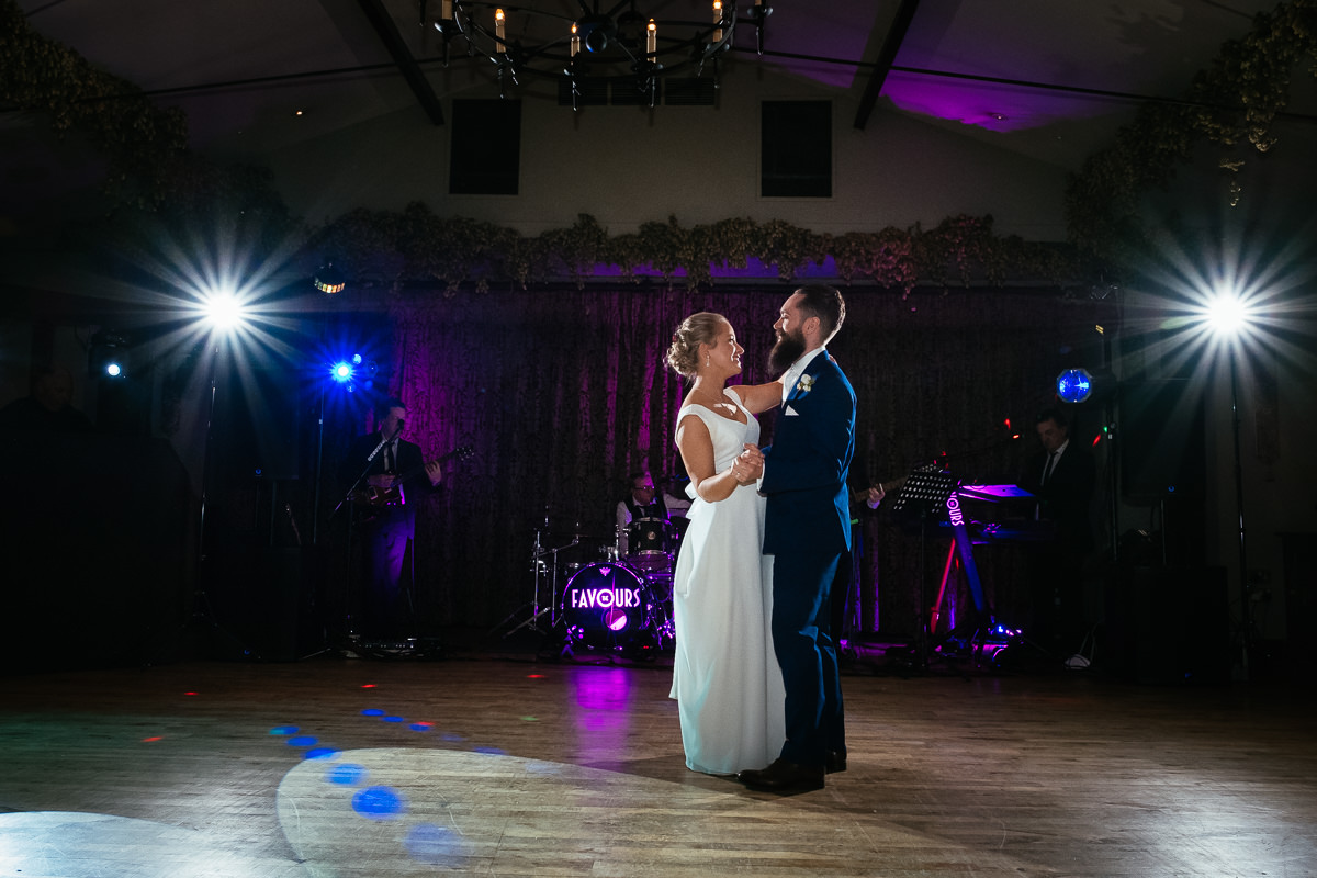 bride and groom first dance at barberstown castle kildare