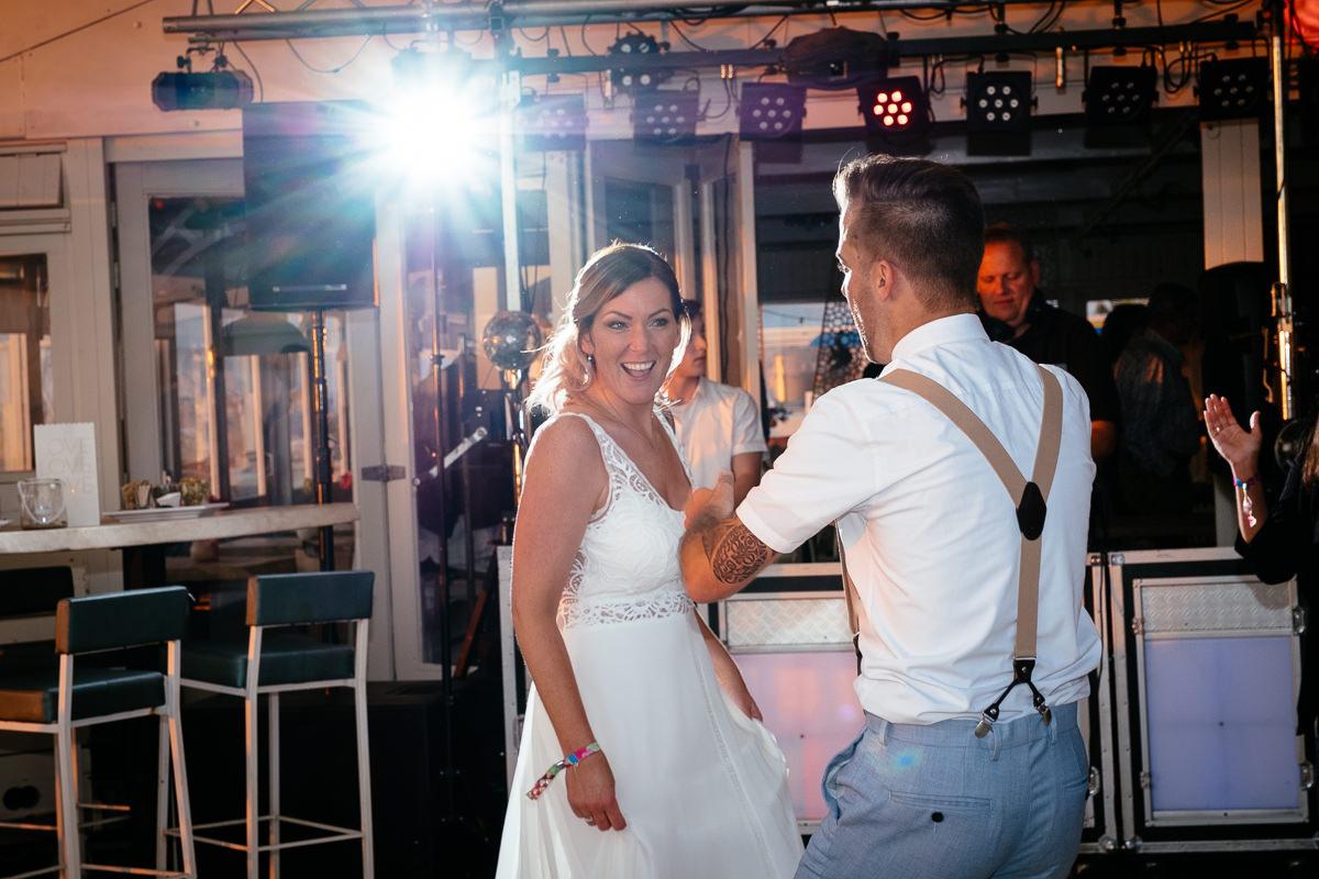 wedding party at Zuiderstrand Kijkduin