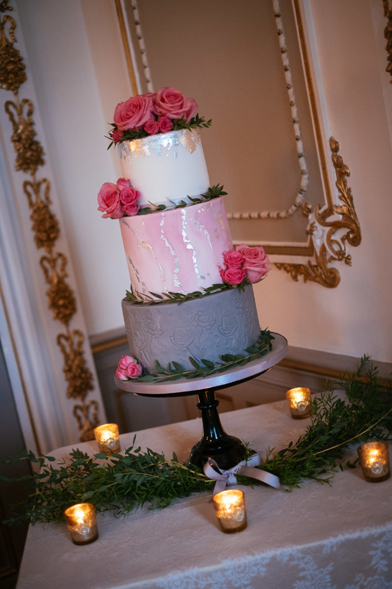 wedding cake in markree castle sligo