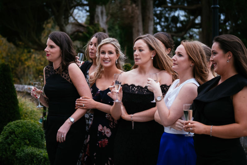 wedding guests in markree castle sligo