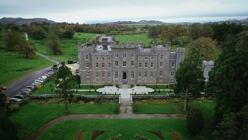 drone shot of markree castle in sligo