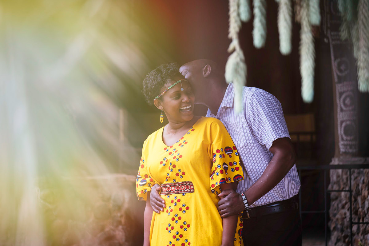bride laughing in Nairobi Kenya