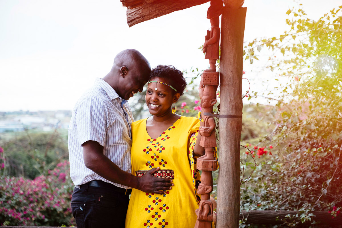 couple embracing in Nairobi Kenya