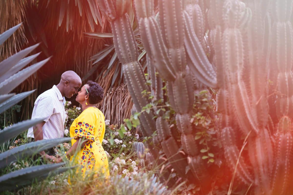 engaged couple at sunset in Nairobi Kenya