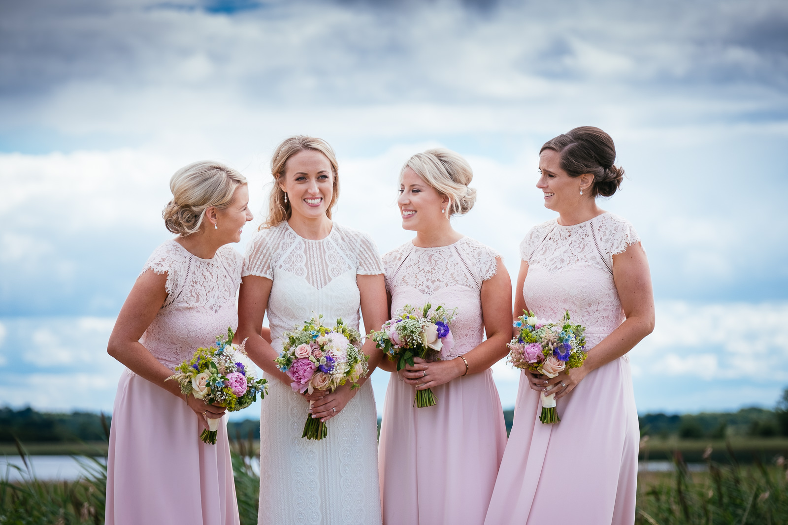 bridesmaids laughing on the golf course at glasson house athlone